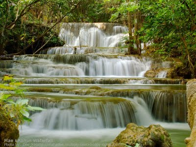 Nice wallpapers Huai Mae Kamin Waterfall 400x300px