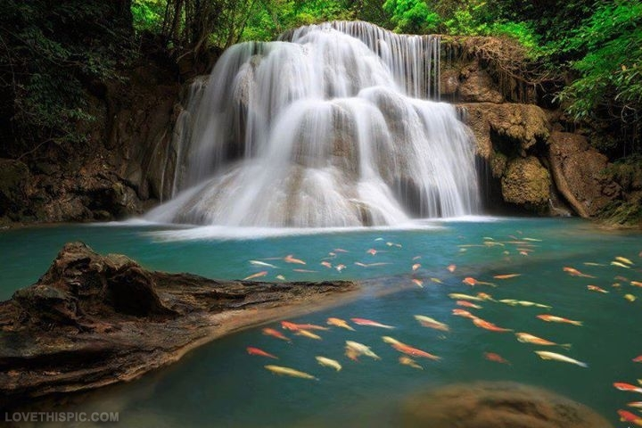 Huai Mae Kamin Waterfall Backgrounds, Compatible - PC, Mobile, Gadgets| 720x480 px