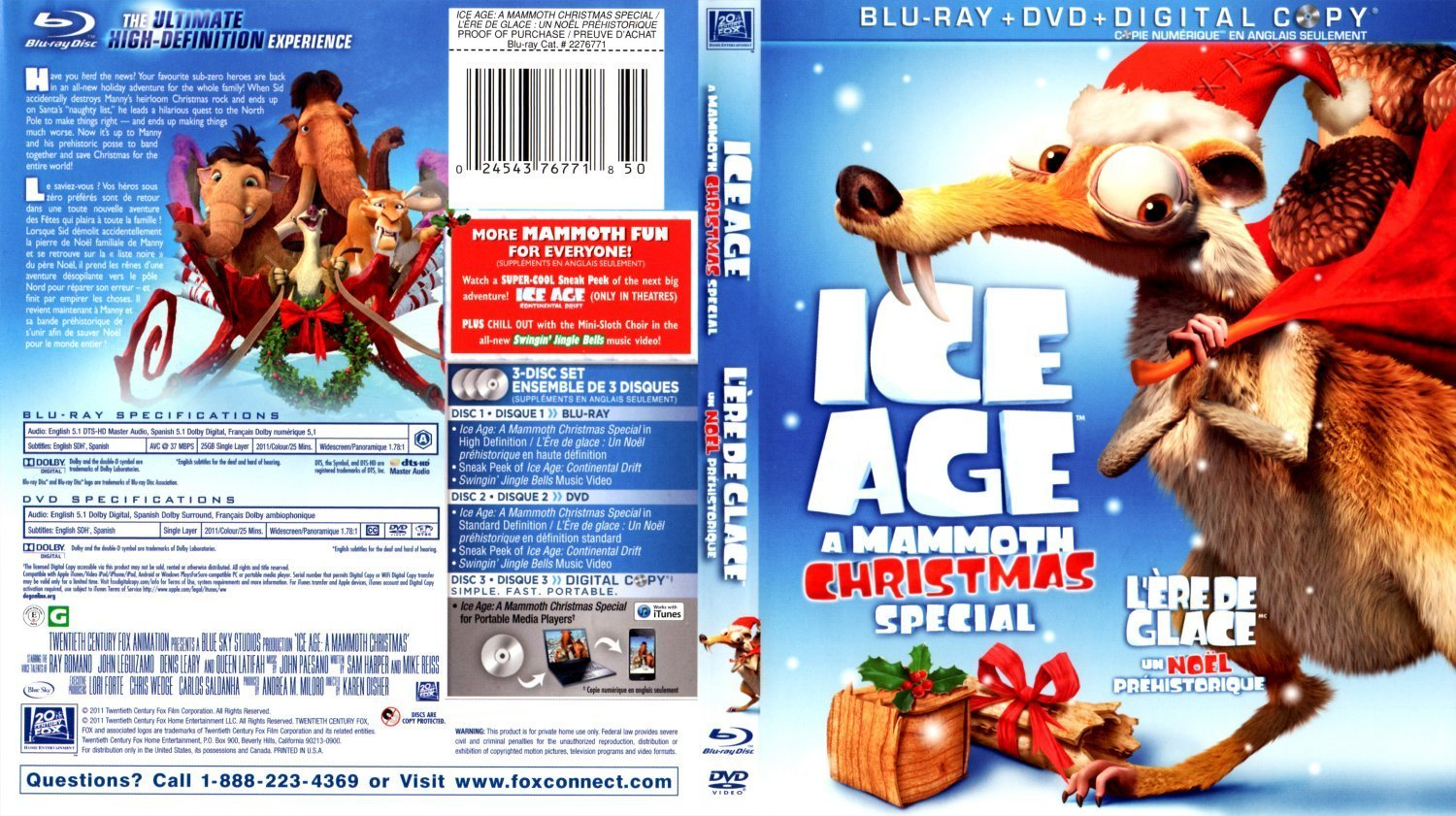 Ice Age: A Mammoth Christmas Backgrounds on Wallpapers Vista