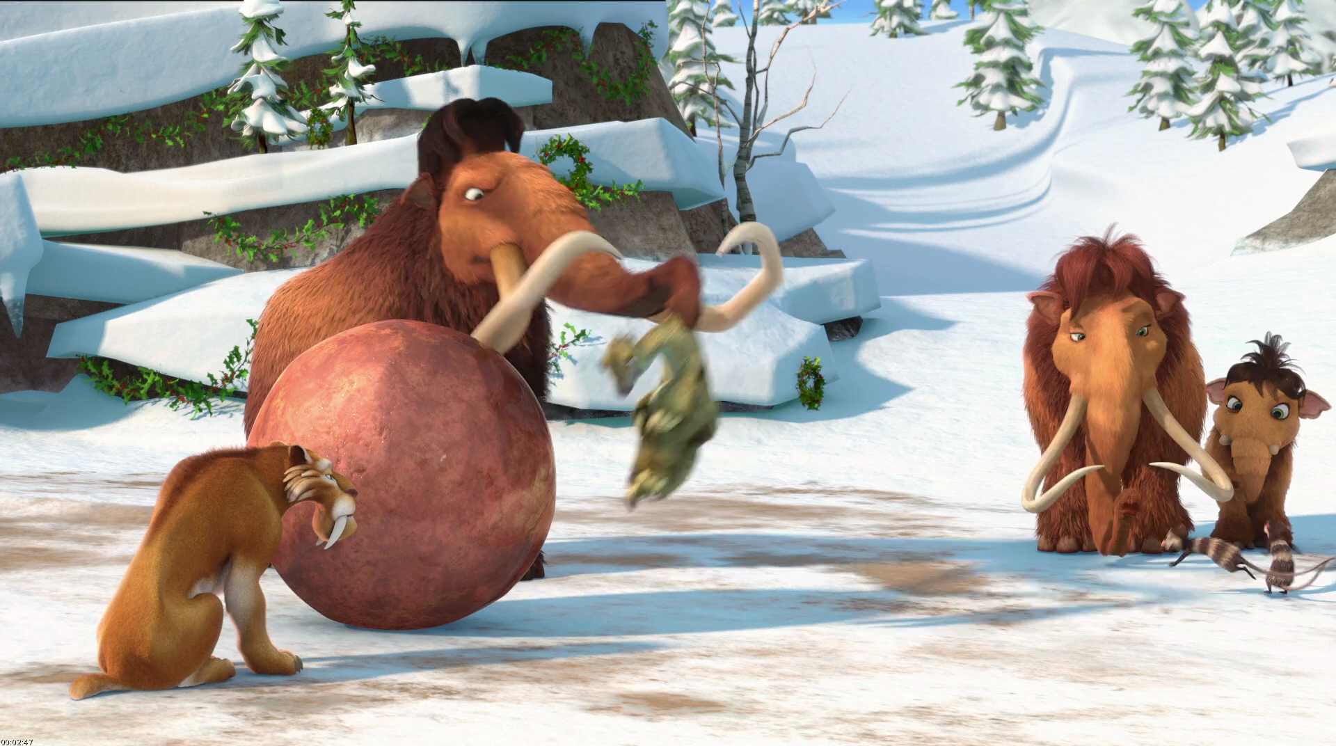 HD Quality Wallpaper | Collection: Movie, 1920x1072 Ice Age: A Mammoth Christmas