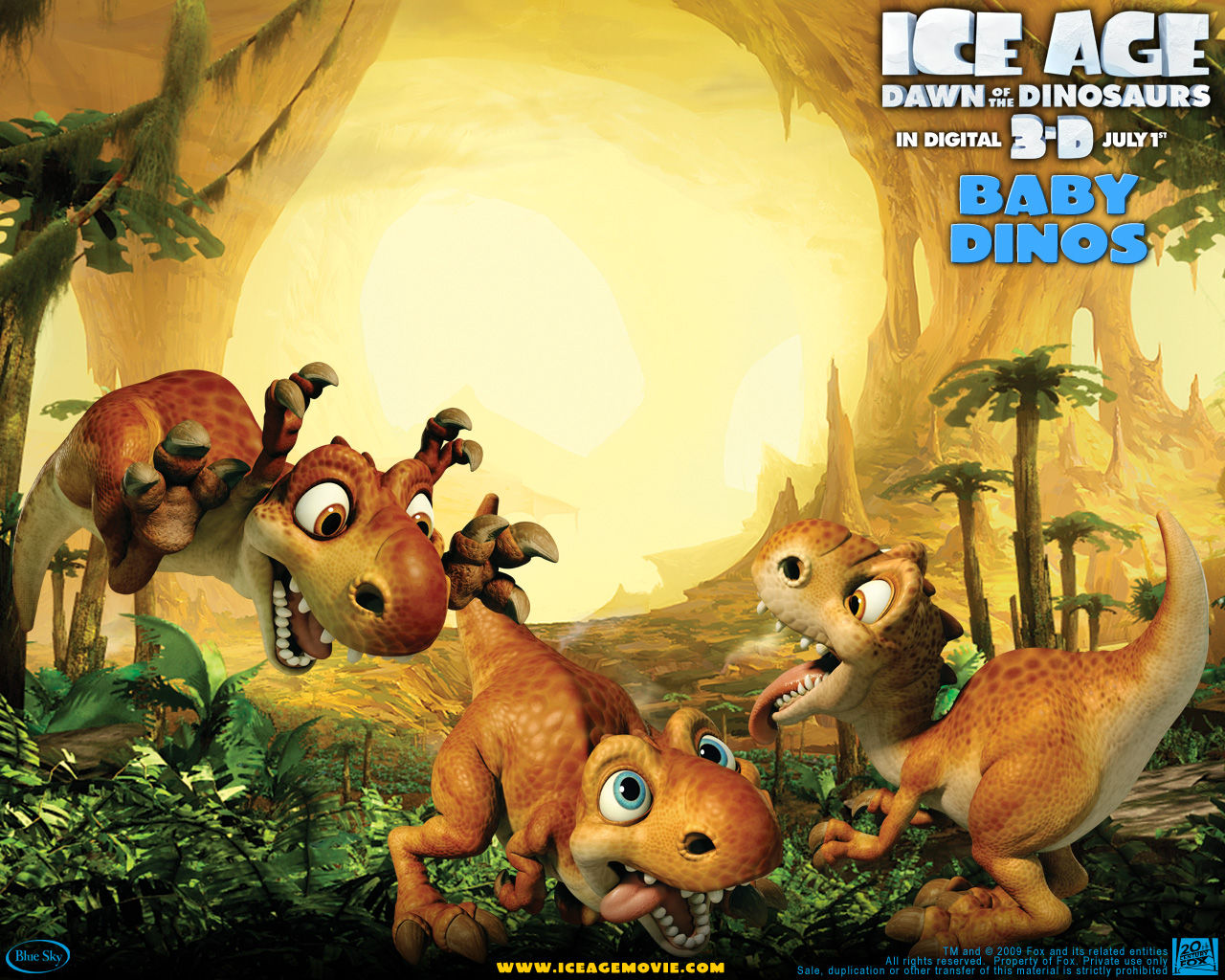 High Resolution Wallpaper | Ice Age: Dawn Of The Dinosaurs 1280x1024 px