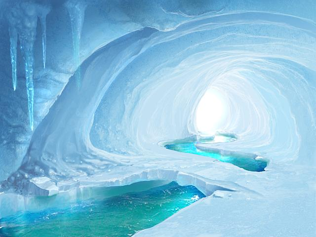 Nice wallpapers Ice Cave 640x480px