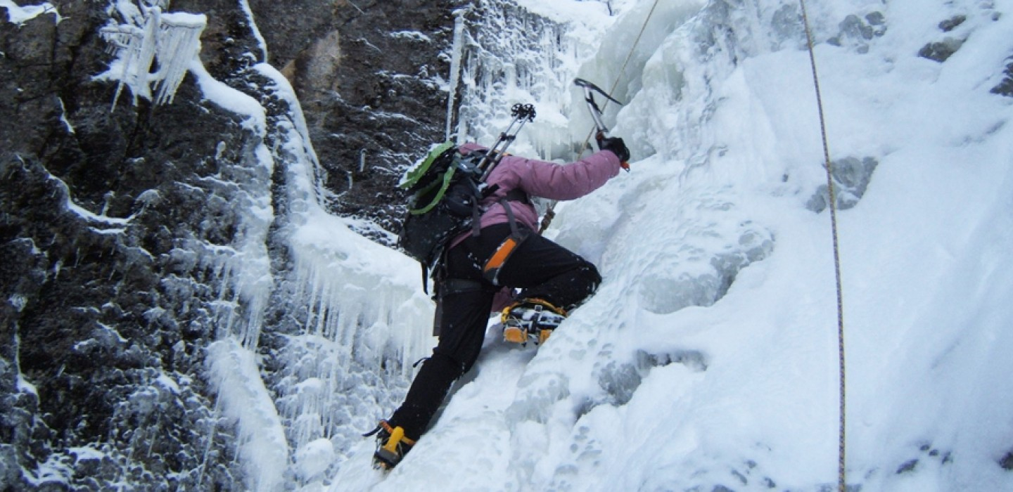 Nice Images Collection: Ice Climbing Desktop Wallpapers