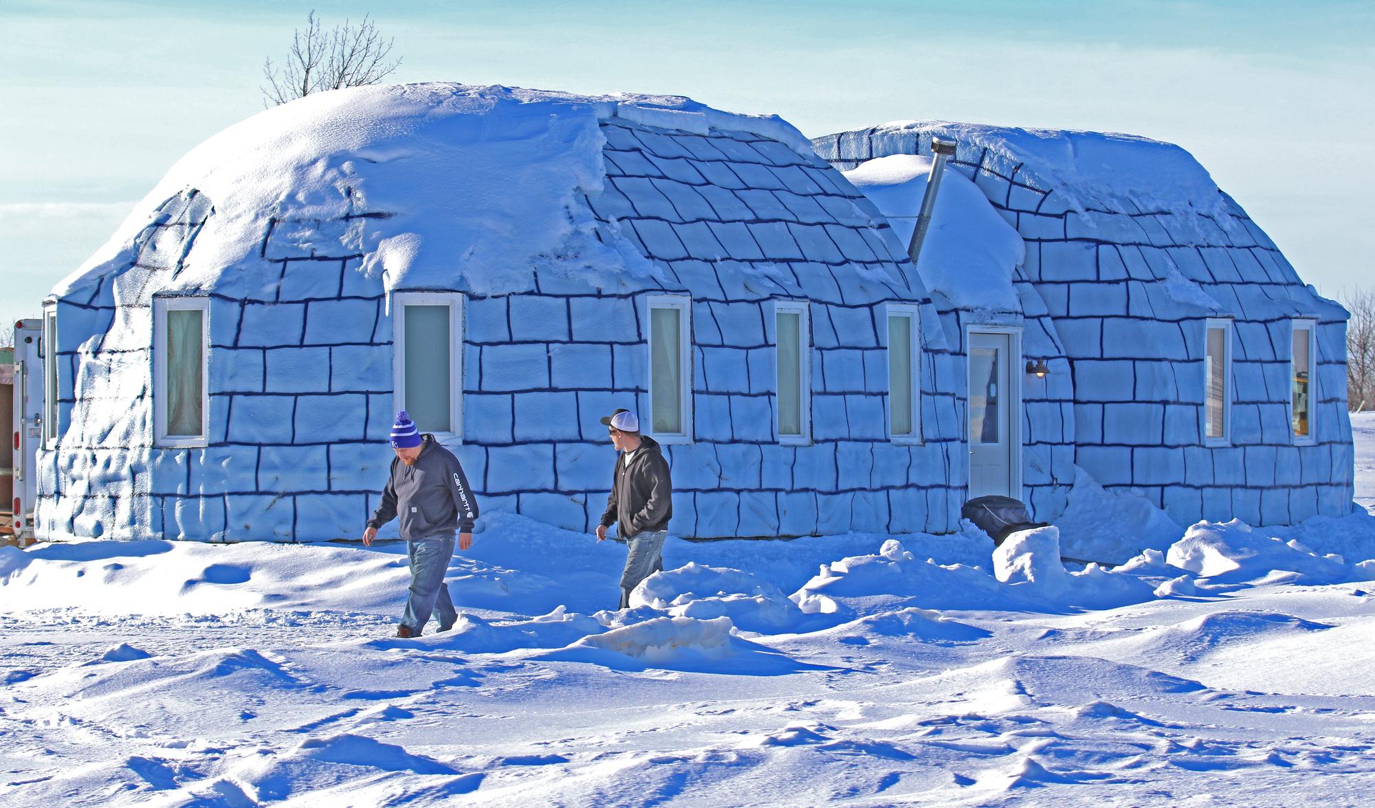 Картинки домик из снега