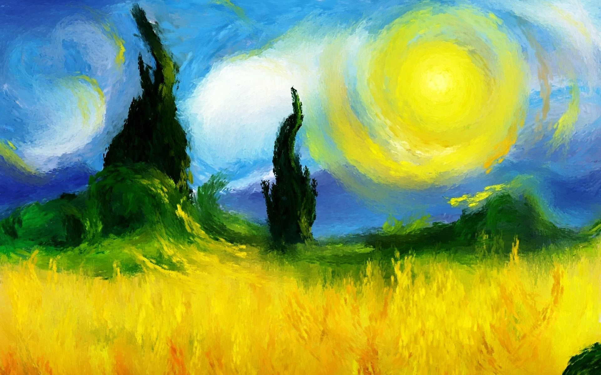 Impressionist Backgrounds, Compatible - PC, Mobile, Gadgets| 1920x1200 px