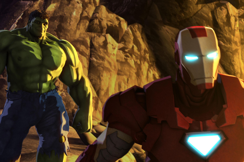 3000x1993 > Iron Man & Hulk: Heroes United Wallpapers