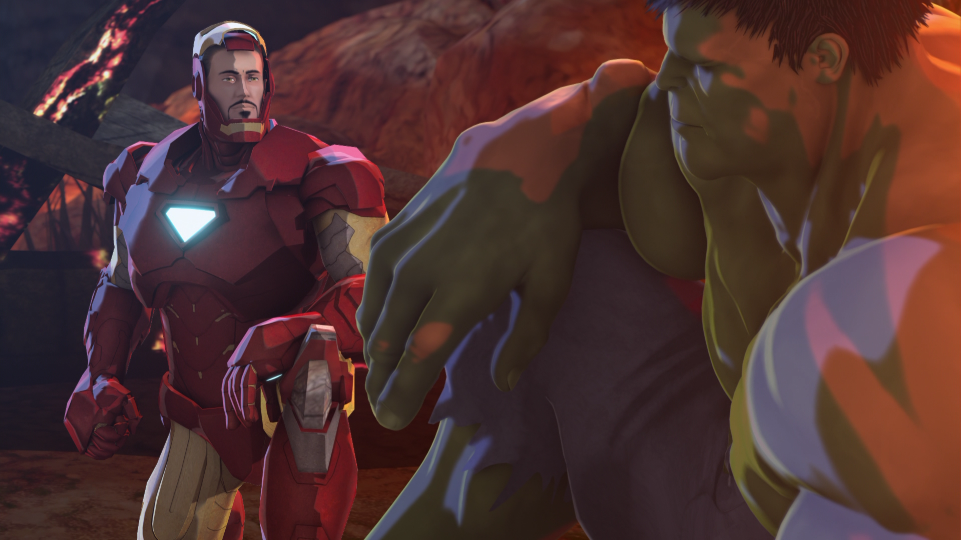 1920x1080 > Iron Man & Hulk: Heroes United Wallpapers