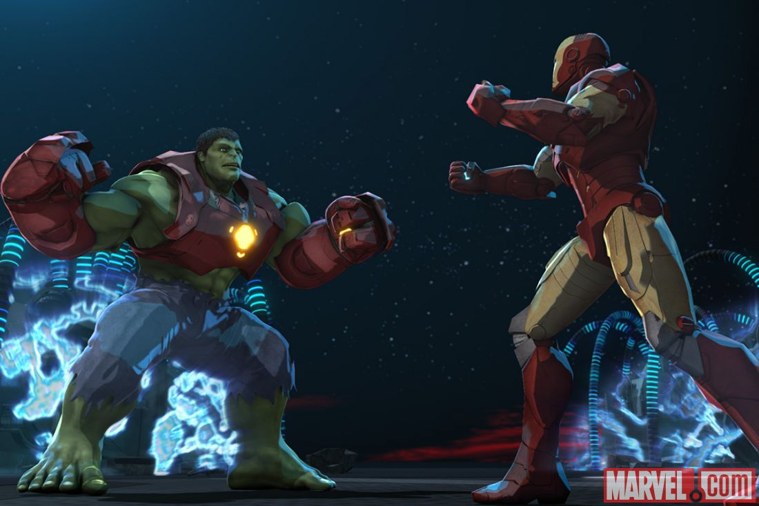 HD Quality Wallpaper | Collection: Movie, 1100x733 Iron Man & Hulk: Heroes United