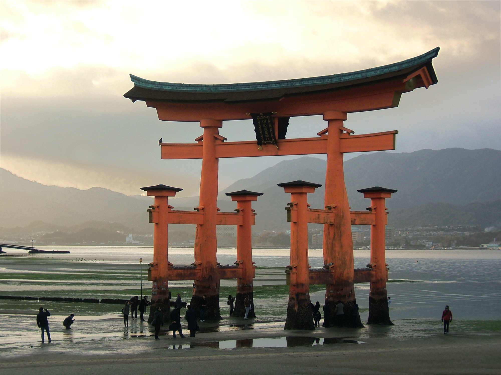 The first great Torii on the site was built in 1168 and the gate you see there today is the 8th iteration built in 1875 A torii is a gate between the everyday world