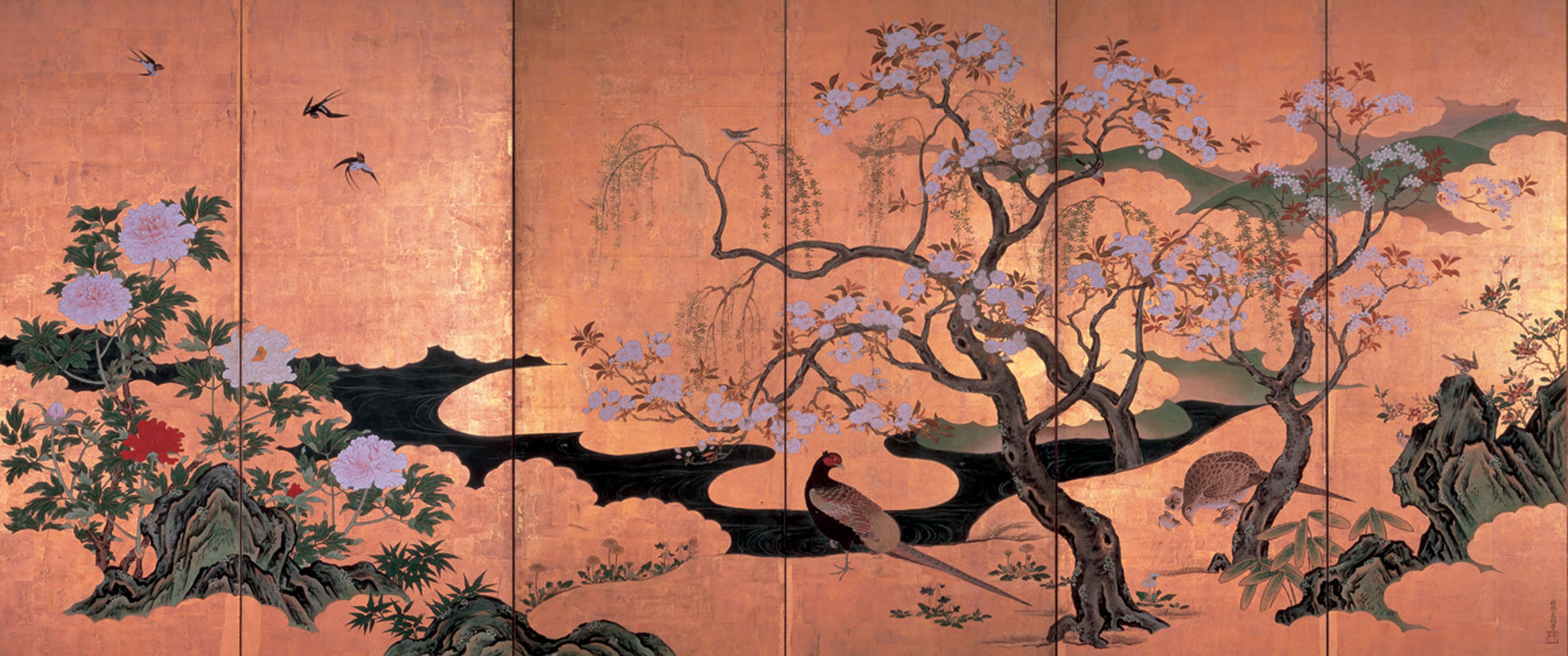 Japanese Art Backgrounds, Compatible - PC, Mobile, Gadgets| 2400x1004 px