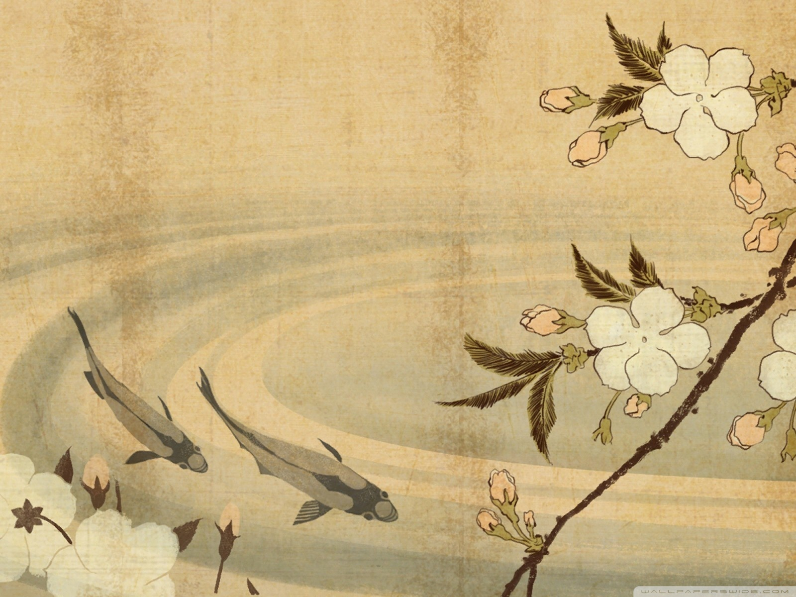 Japanese Art Backgrounds, Compatible - PC, Mobile, Gadgets| 1600x1200 px
