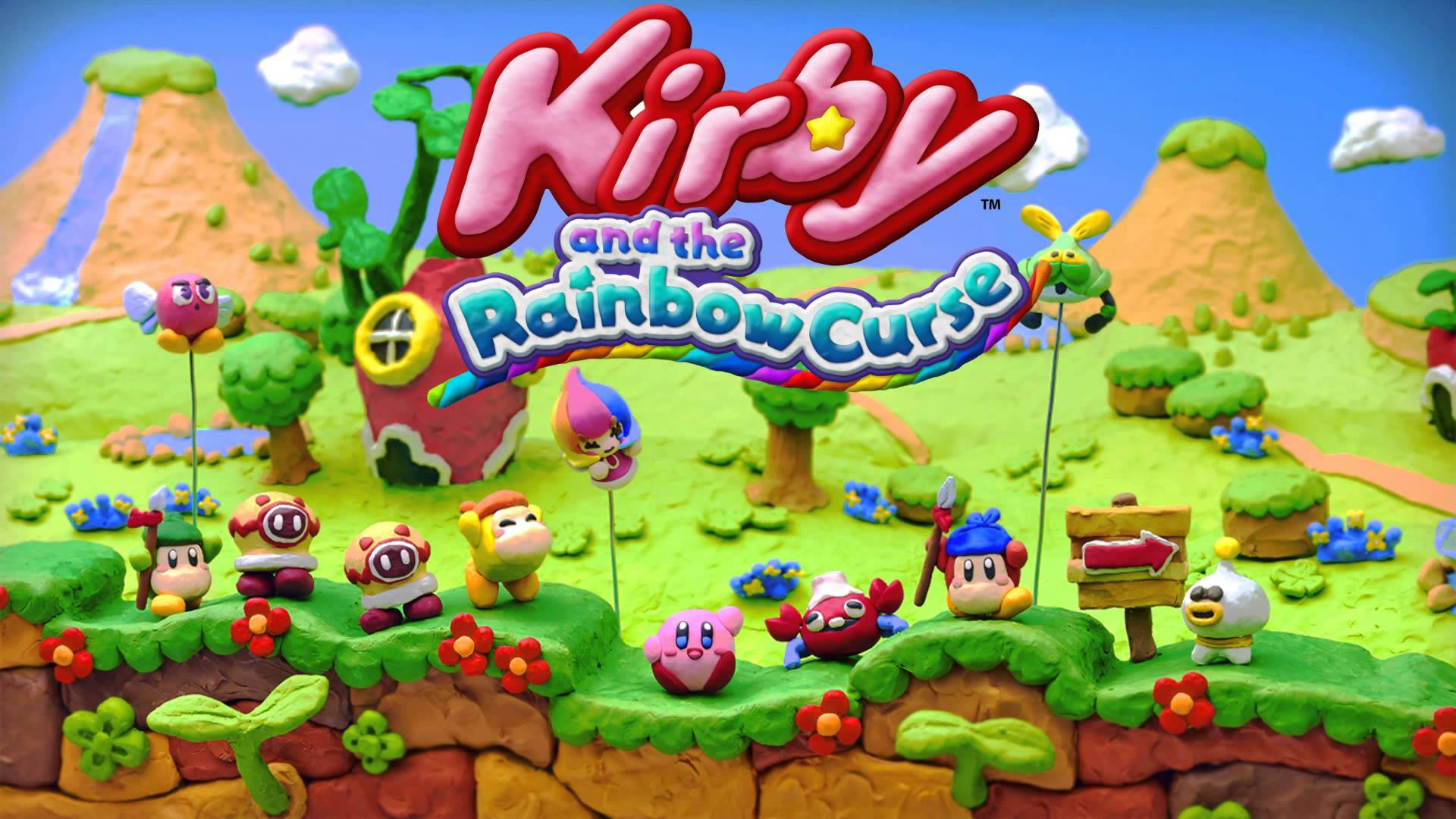 Nice Images Collection: Kirby And The Rainbow Curse Desktop Wallpapers