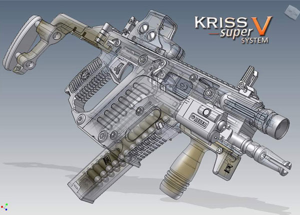 HD Quality Wallpaper | Collection: Weapons, 600x429 KRISS Vector Super V