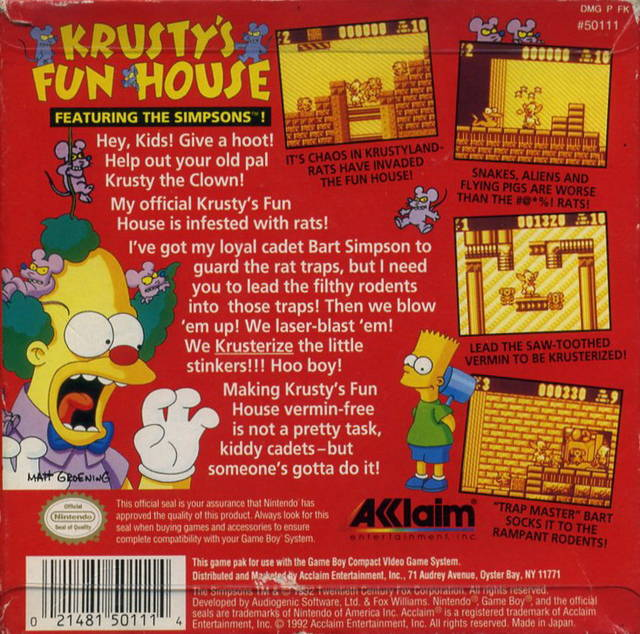 Nice wallpapers Krusty's Fun House 640x634px