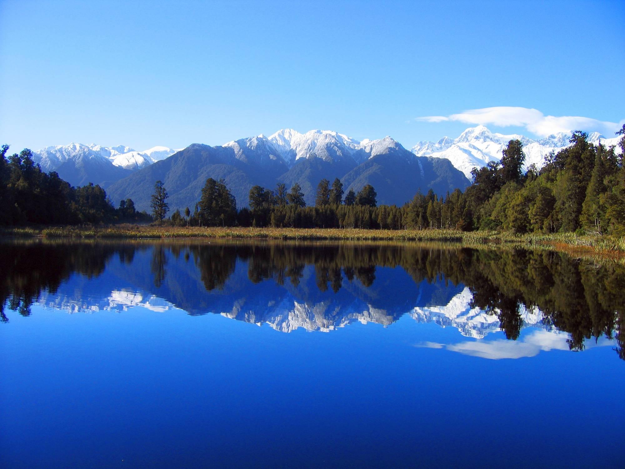 High Resolution Wallpaper   Lake Matheson 2000x1500 px