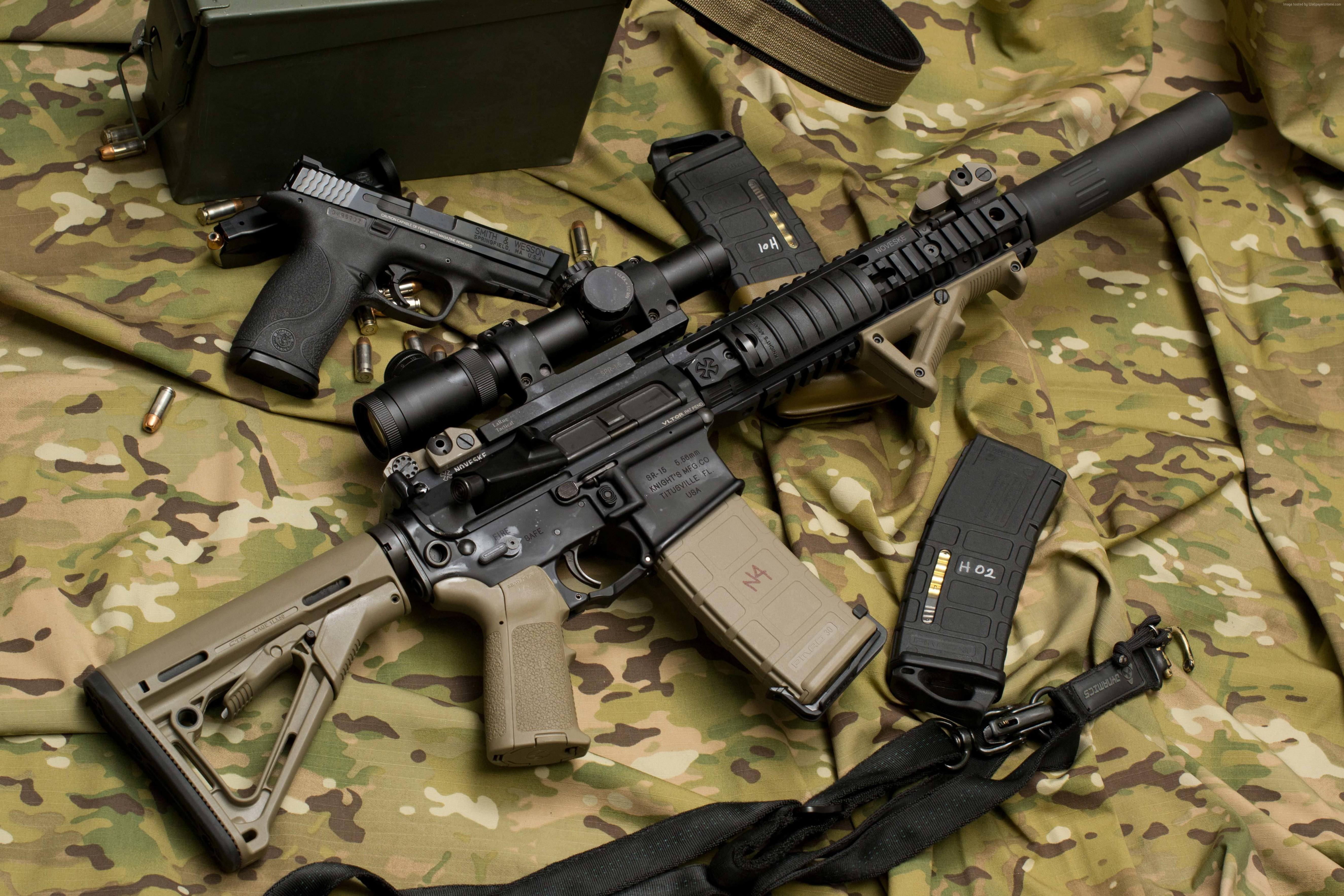 Nice Images Collection: LaRue Assault Rifle Desktop Wallpapers