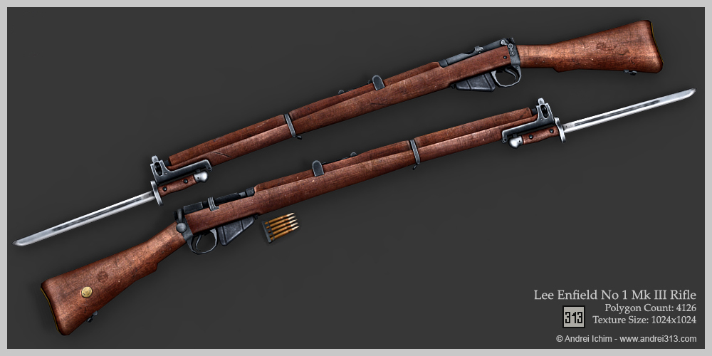 Nice wallpapers Lee Enfield Mk Iii Rifle 1000x500px