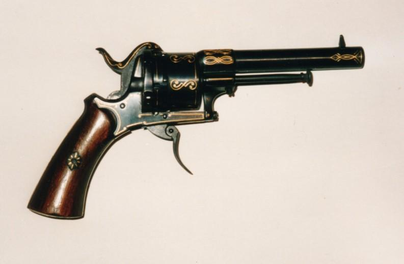 HD Quality Wallpaper | Collection: Weapons, 793x519 Lefaucheux Revolver
