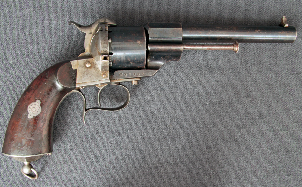 HD Quality Wallpaper | Collection: Weapons, 1000x619 Lefaucheux Revolver