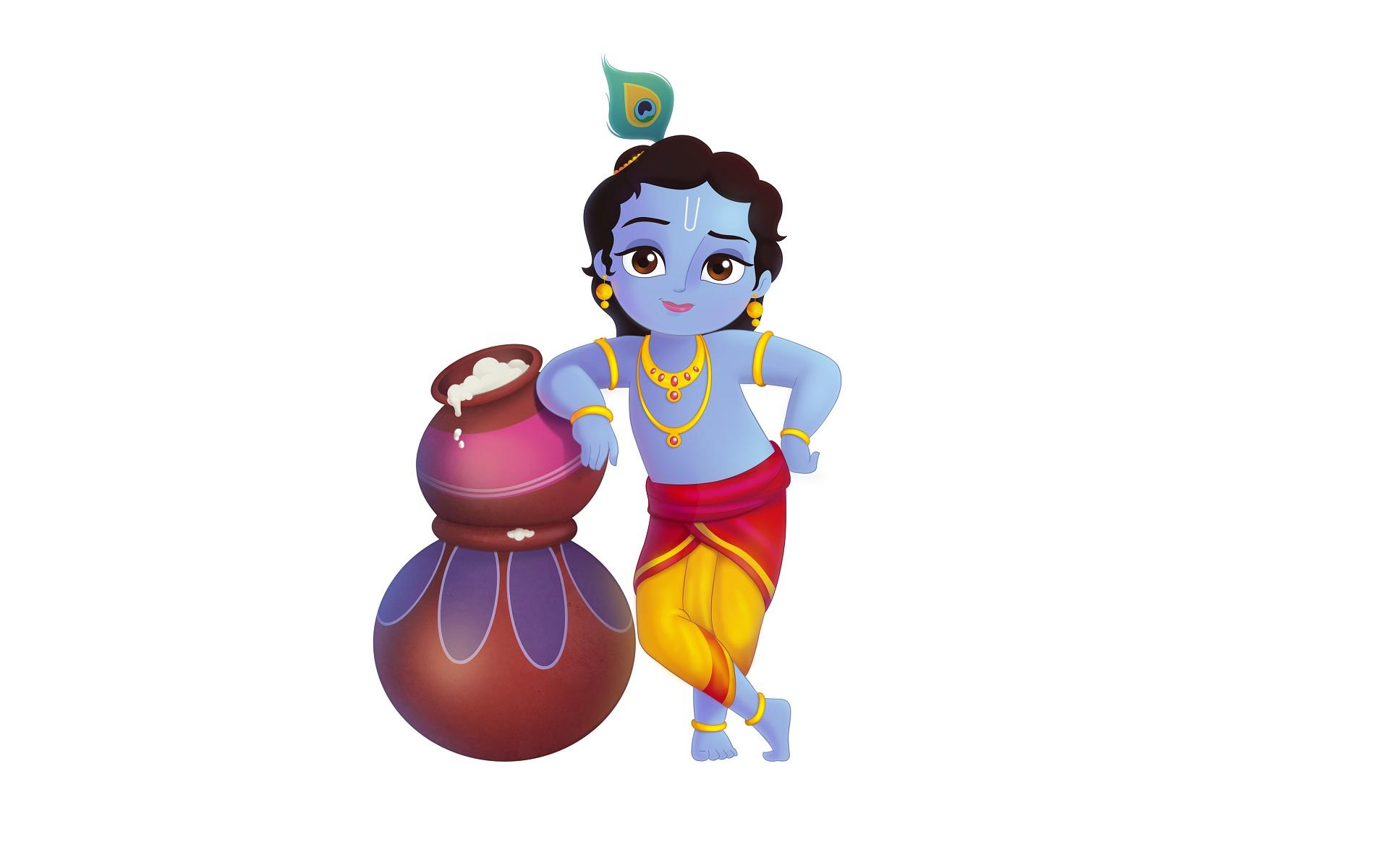 Little Krishna Wallpapers Cartoon Hq Little Krishna Pictures 4k Wallpapers 2019