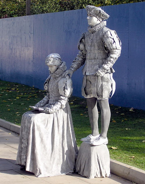 Living Statue Pics, Artistic Collection