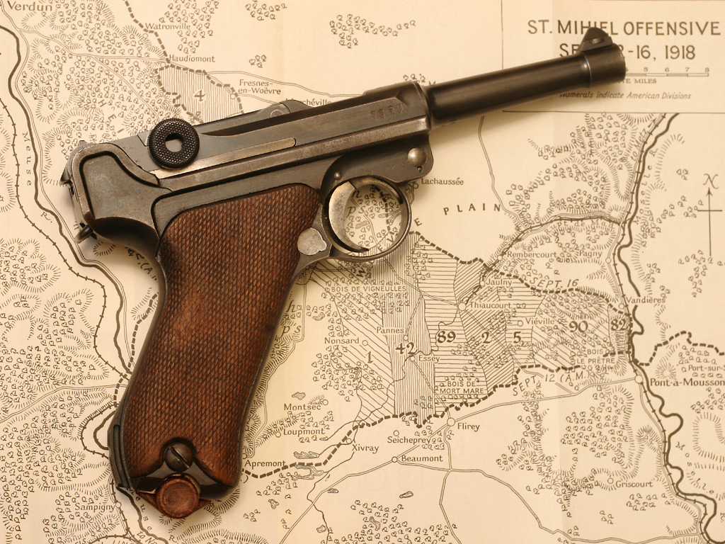 HD Quality Wallpaper | Collection: Weapons, 1024x768 Luger P08 Pistol