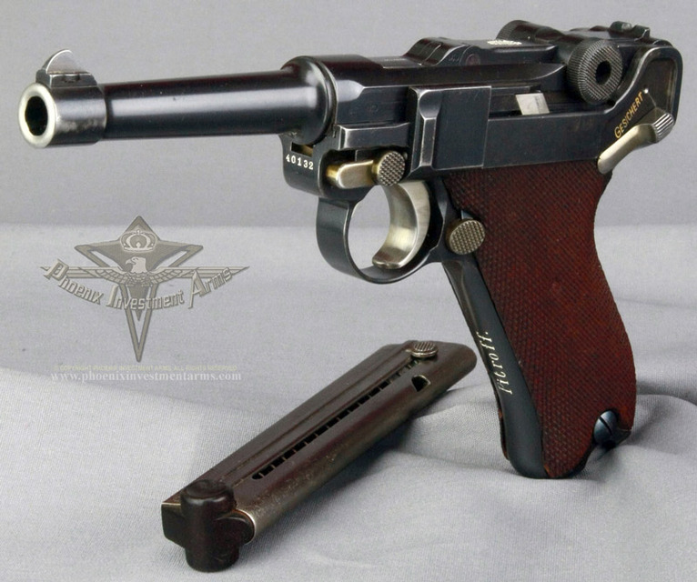 HD Quality Wallpaper | Collection: Weapons, 766x640 Luger P08 Pistol