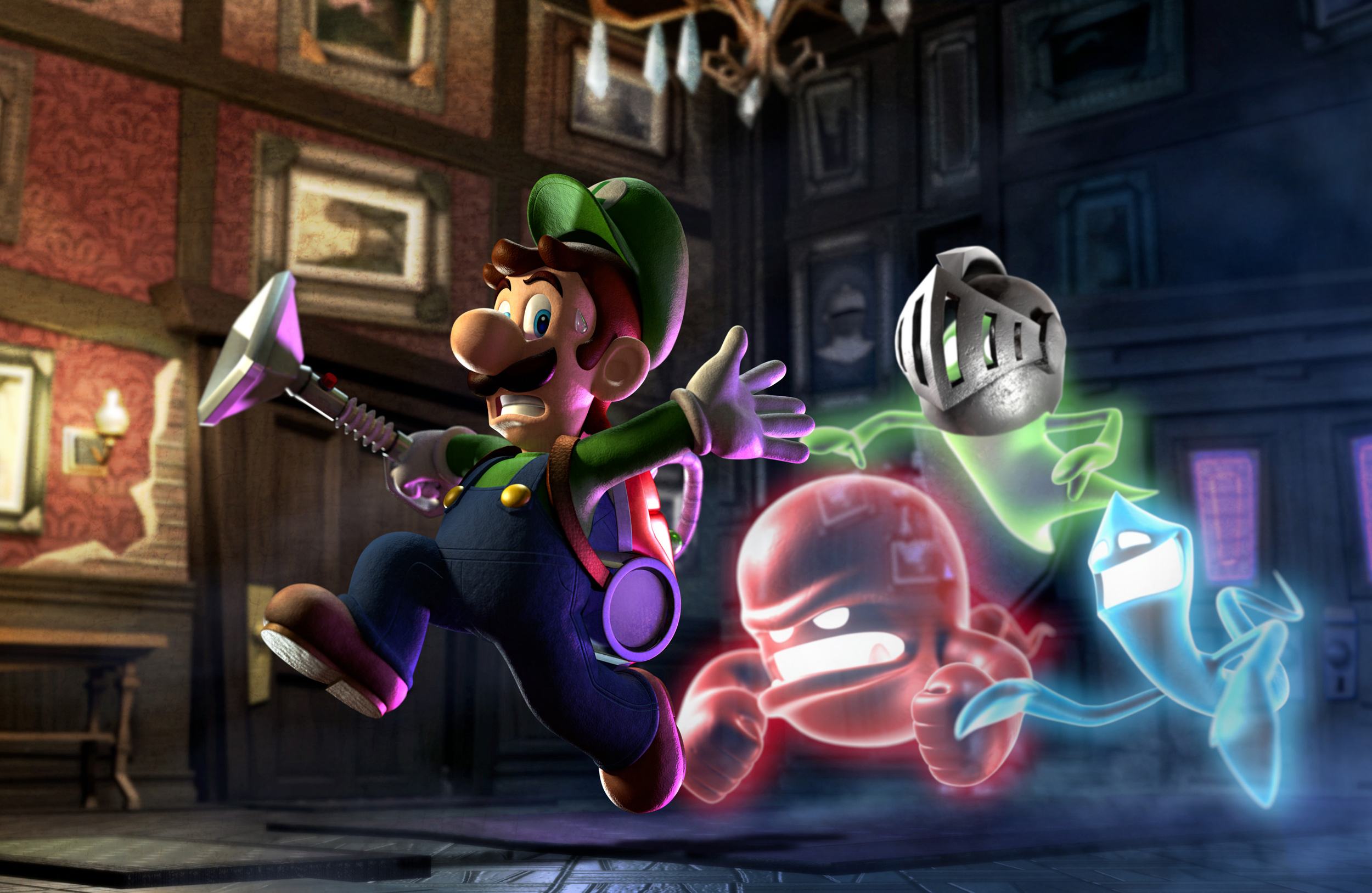 HD Quality Wallpaper | Collection: Video Game, 2500x1627 Luigi's Mansion 2
