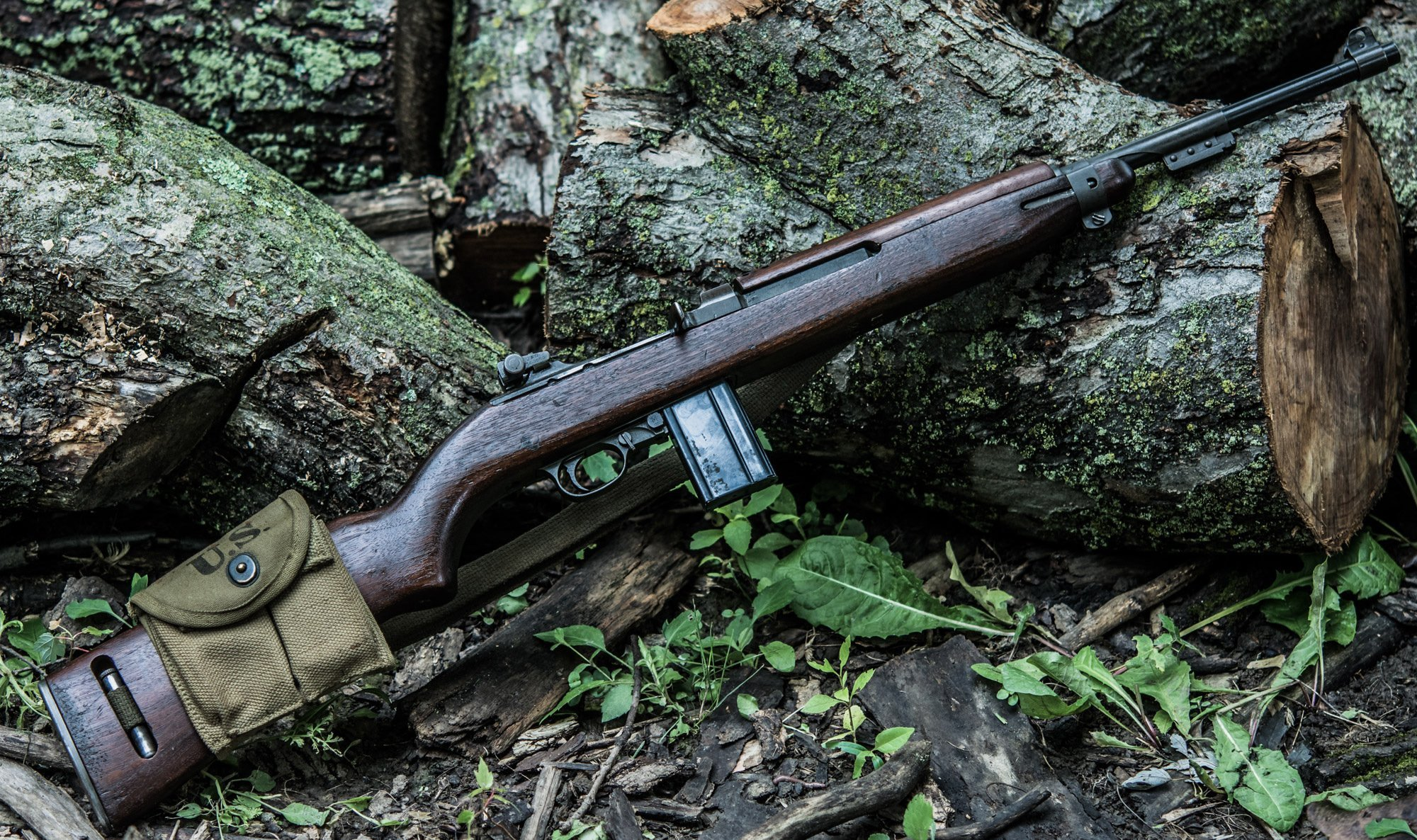 HD Quality Wallpaper | Collection: Weapons, 2000x1186 M1 Carbine