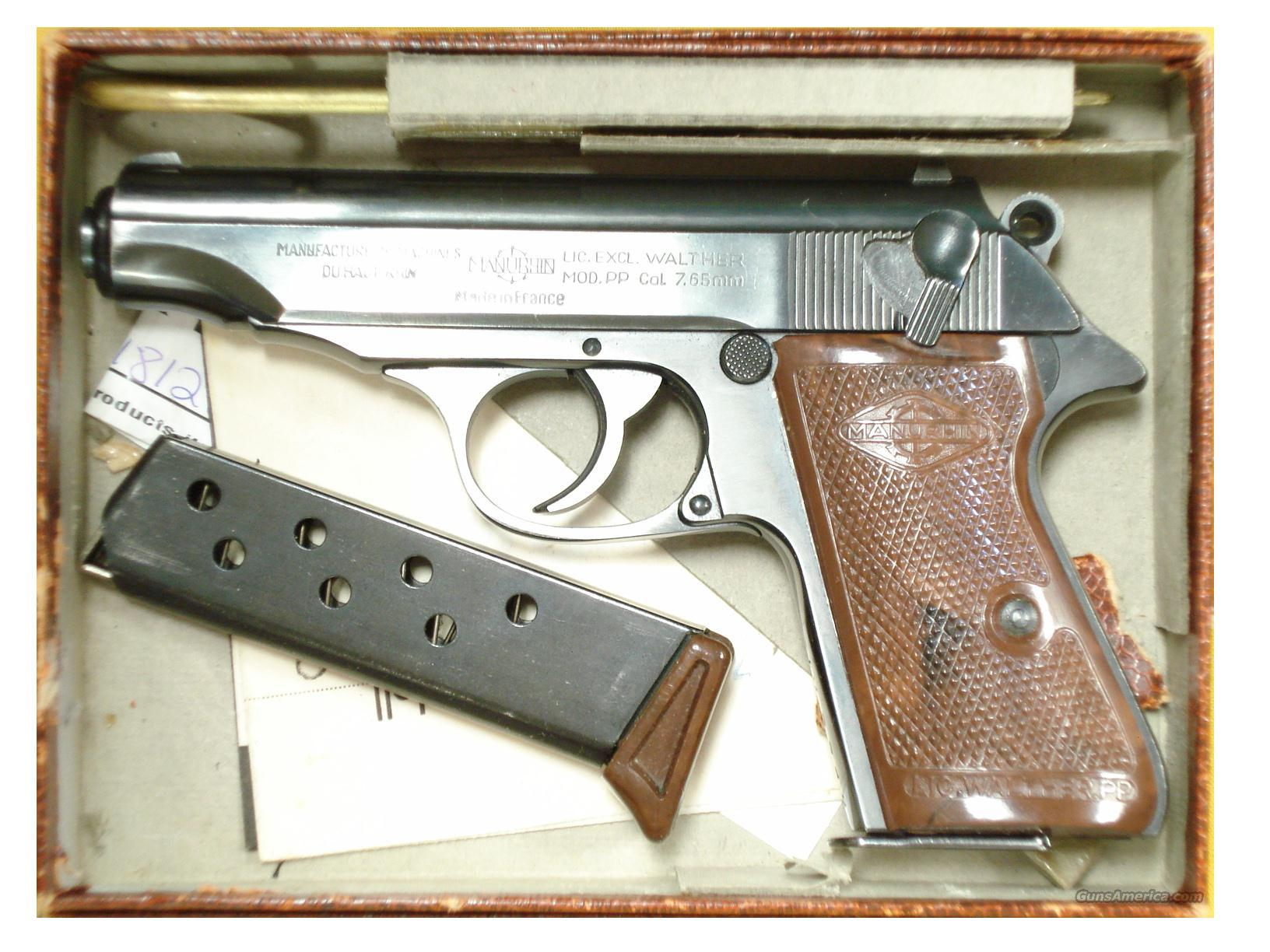 Manurhin PP Pistol Pics, Weapons Collection