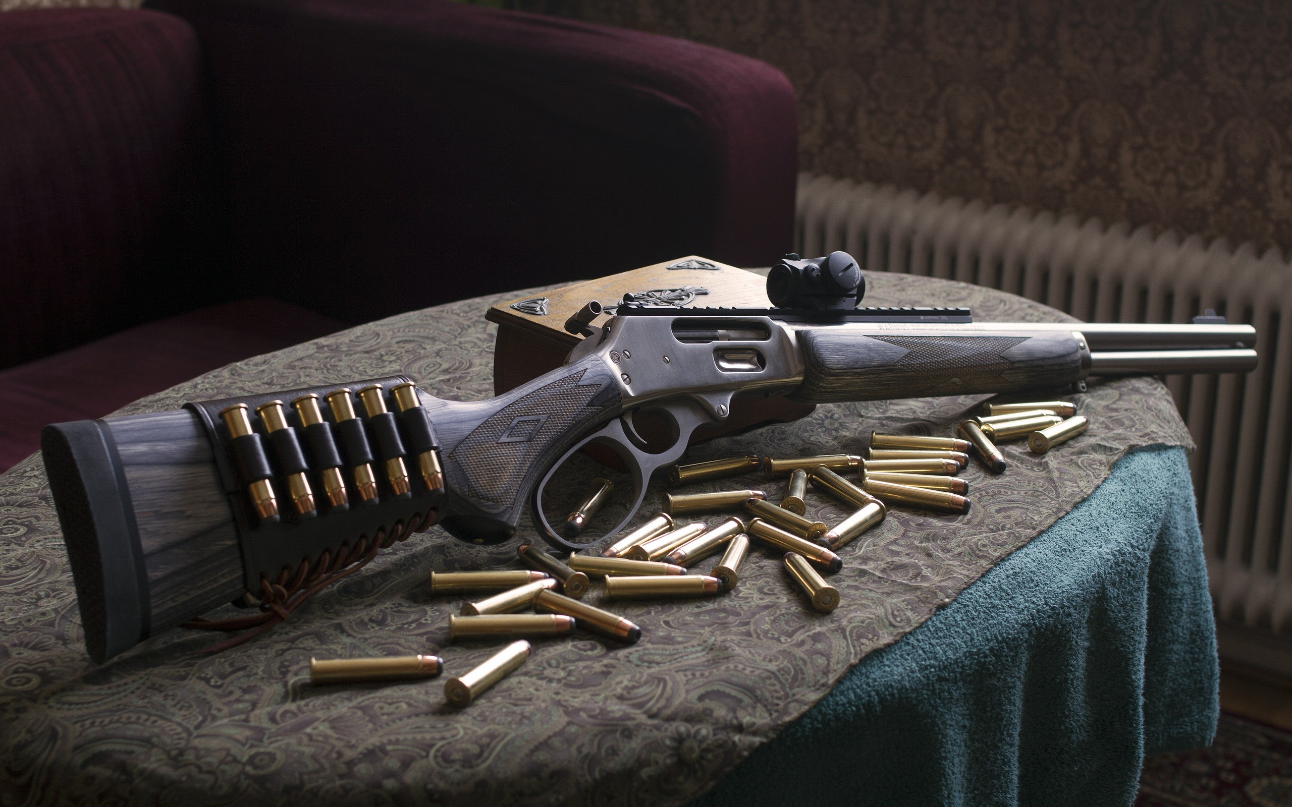 HD Quality Wallpaper | Collection: Weapons, 2560x1600 Marlin Rifle