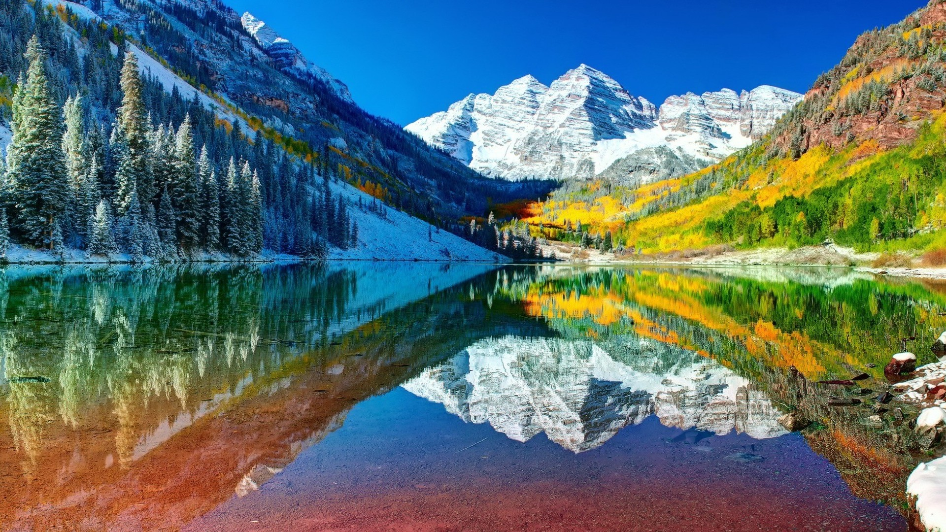 HD Quality Wallpaper | Collection: Earth, 1920x1080 Maroon Bells