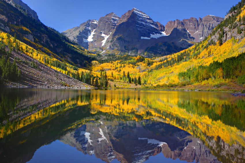 HD Quality Wallpaper | Collection: Earth, 849x566 Maroon Bells