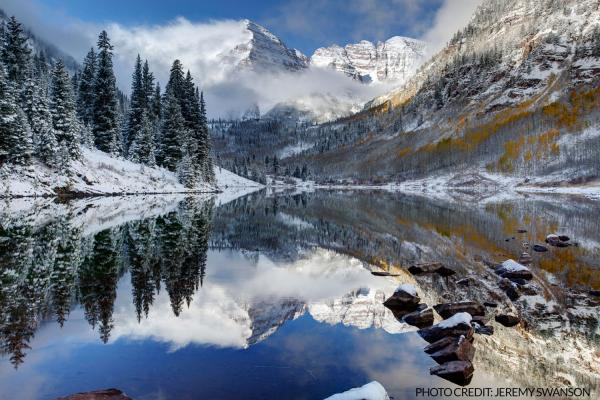 HD Quality Wallpaper | Collection: Earth, 600x400 Maroon Bells