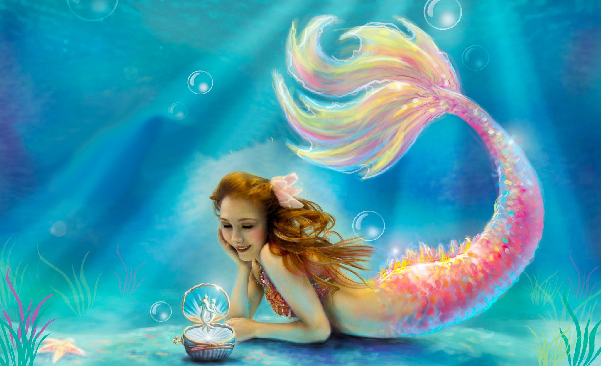 Mermaid Backgrounds, Compatible - PC, Mobile, Gadgets  2048x1248 px