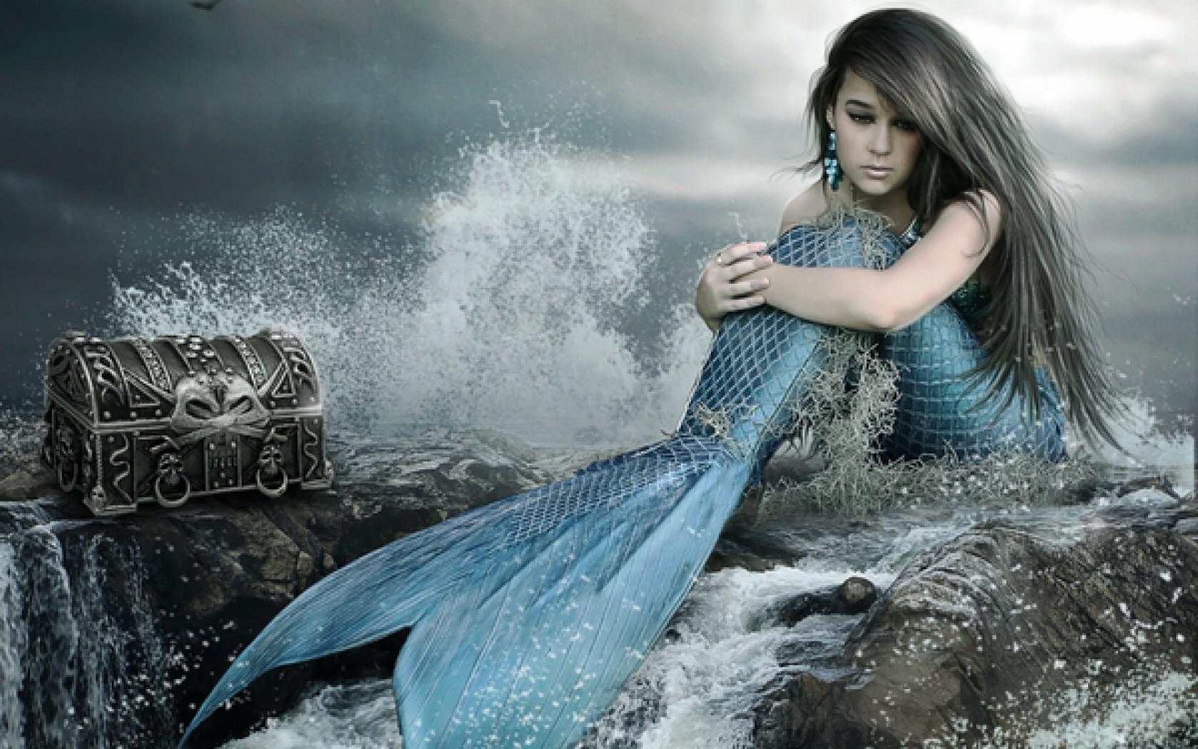 Mermaid Backgrounds, Compatible - PC, Mobile, Gadgets  1680x1050 px