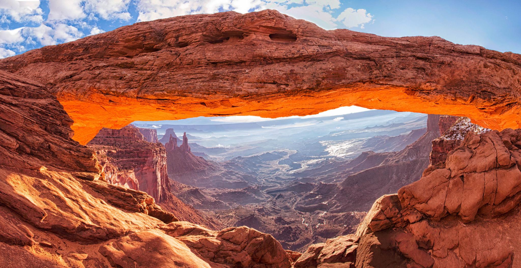 Mesa Arch Backgrounds, Compatible - PC, Mobile, Gadgets| 2048x1057 px