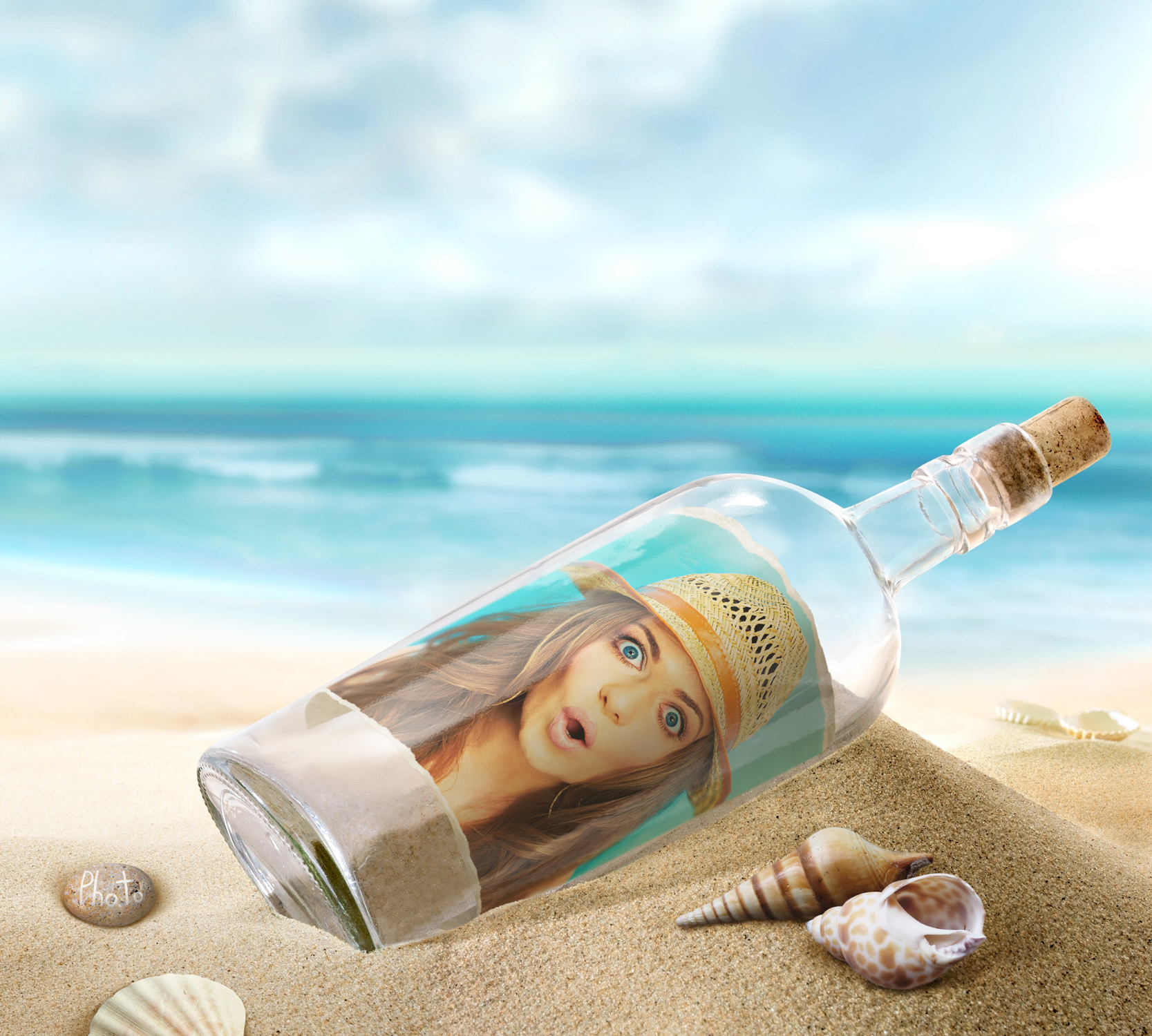 Nice wallpapers Message Bottle 1667x1500px