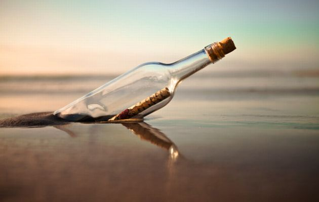 Nice Images Collection: Message Bottle Desktop Wallpapers