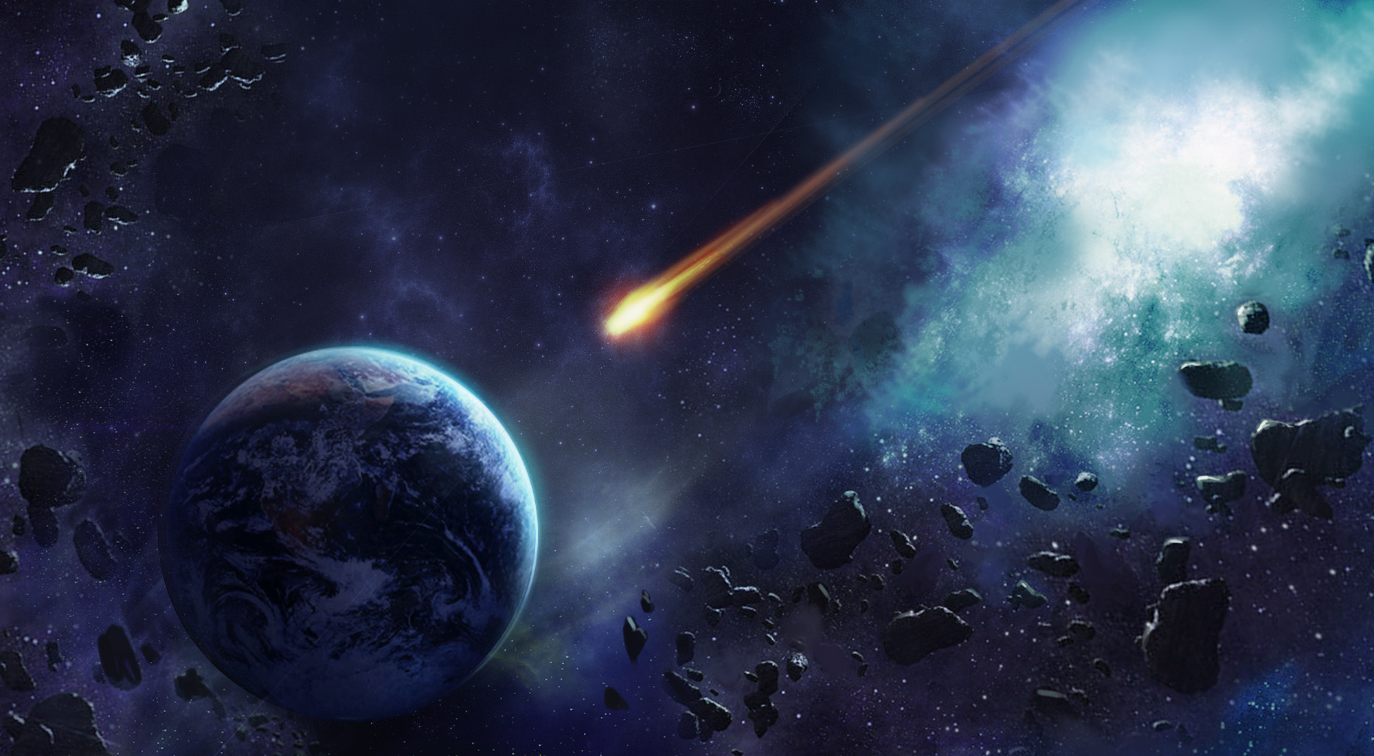 HD Quality Wallpaper | Collection: Earth, 2000x1100 Meteor