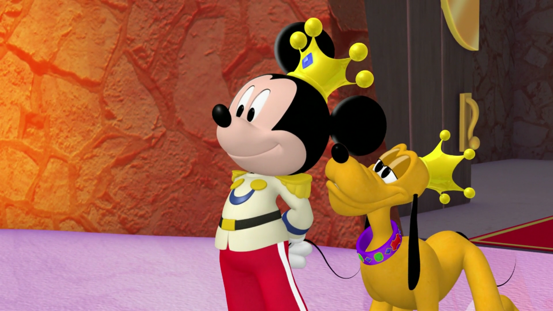 Nice Images Collection: Mickey And Pluto Desktop Wallpapers