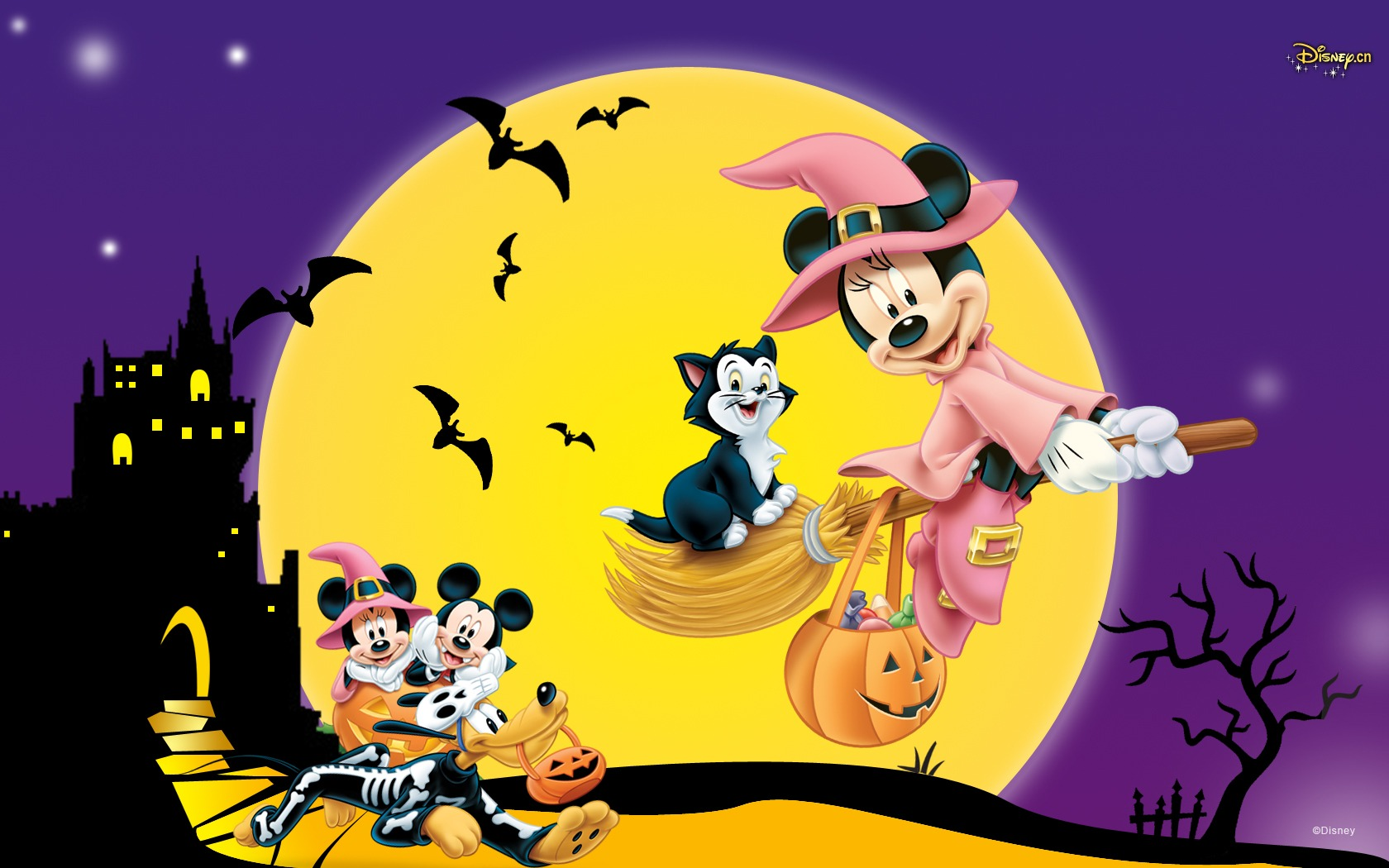 Images of Mickey Mouse Halloween | 1680x1050