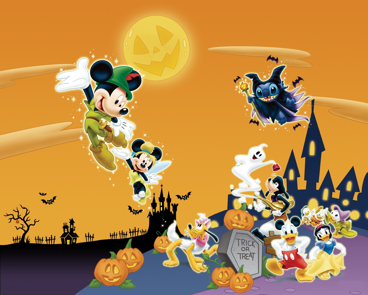 Nice wallpapers Mickey Mouse Halloween 1280x1024px