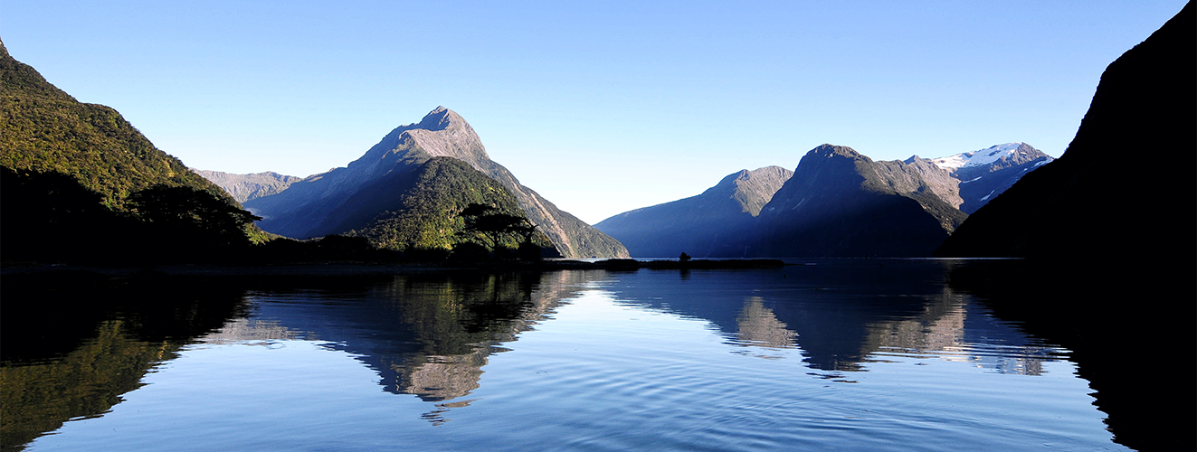 High Resolution Wallpaper | Milford Sound 1323x500 px