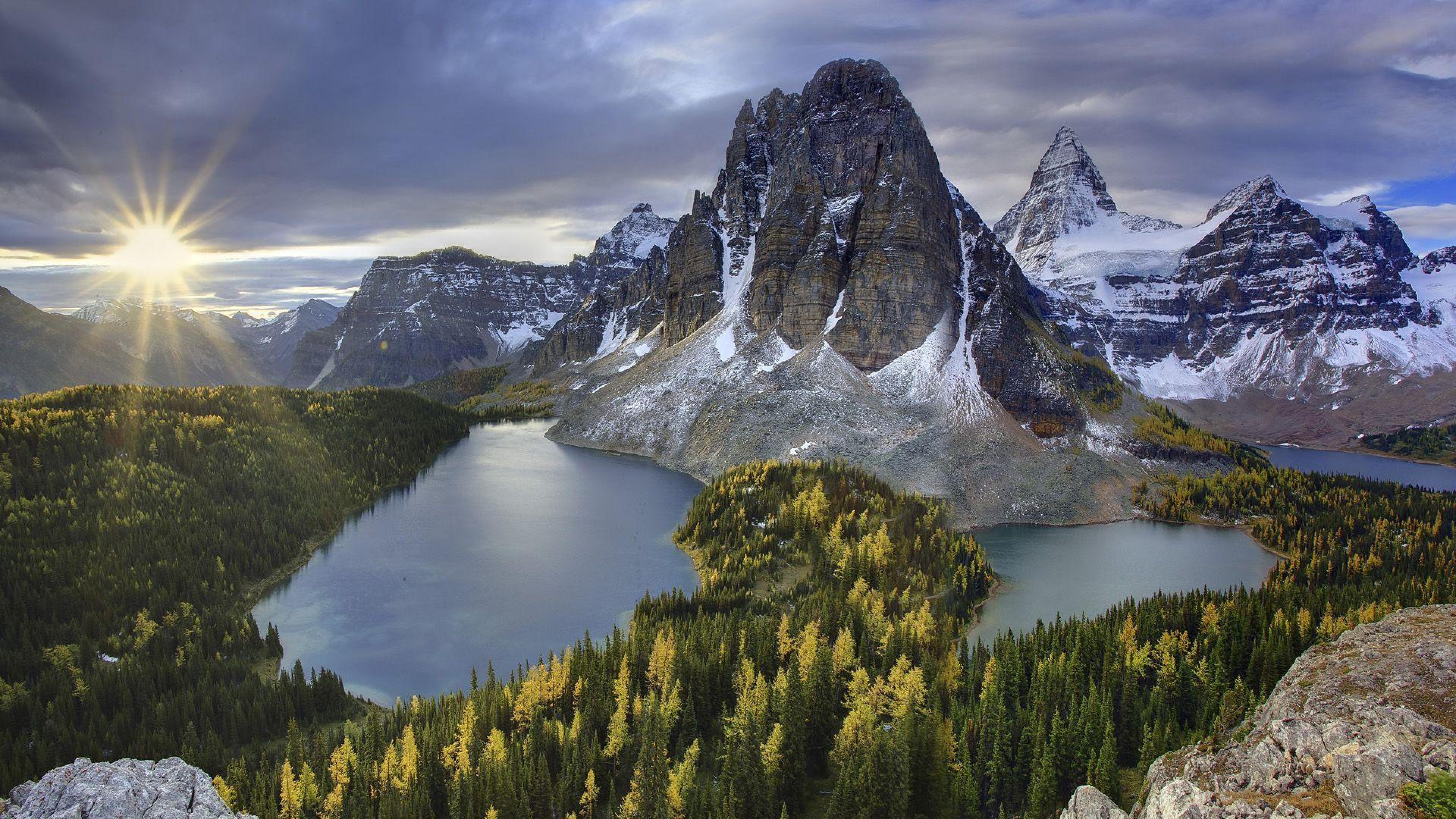HD Quality Wallpaper | Collection: Earth, 3840x2160 Mount Assiniboine