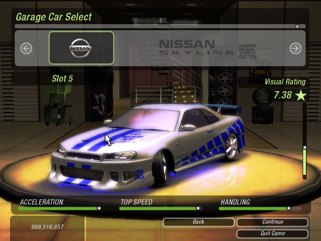 need for speed underground 2 cars list