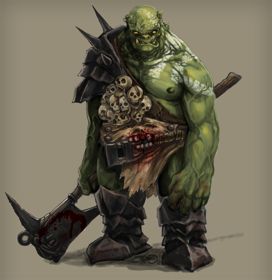 HD Quality Wallpaper | Collection: Fantasy, 900x924 Orc