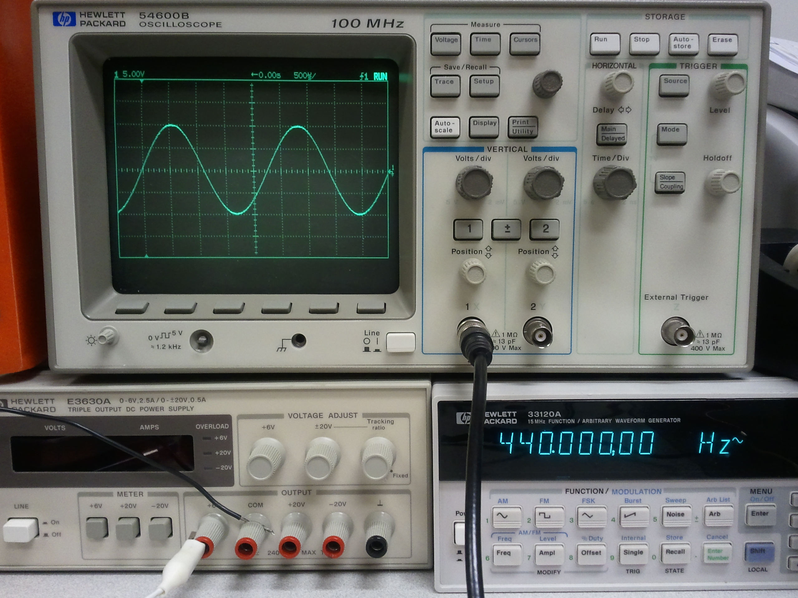 HD Quality Wallpaper | Collection: Technology, 2560x1920 Oscilloscope