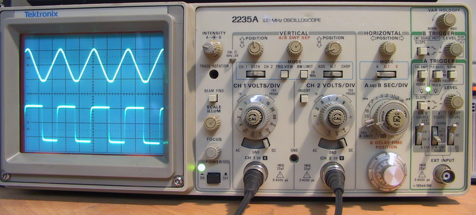 HD Quality Wallpaper | Collection: Technology, 1856x840 Oscilloscope