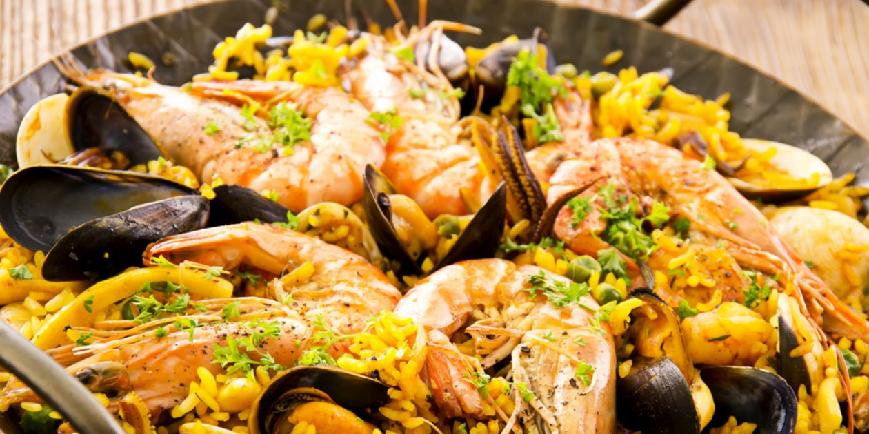 HD Quality Wallpaper | Collection: Food, 1260x630 Paella